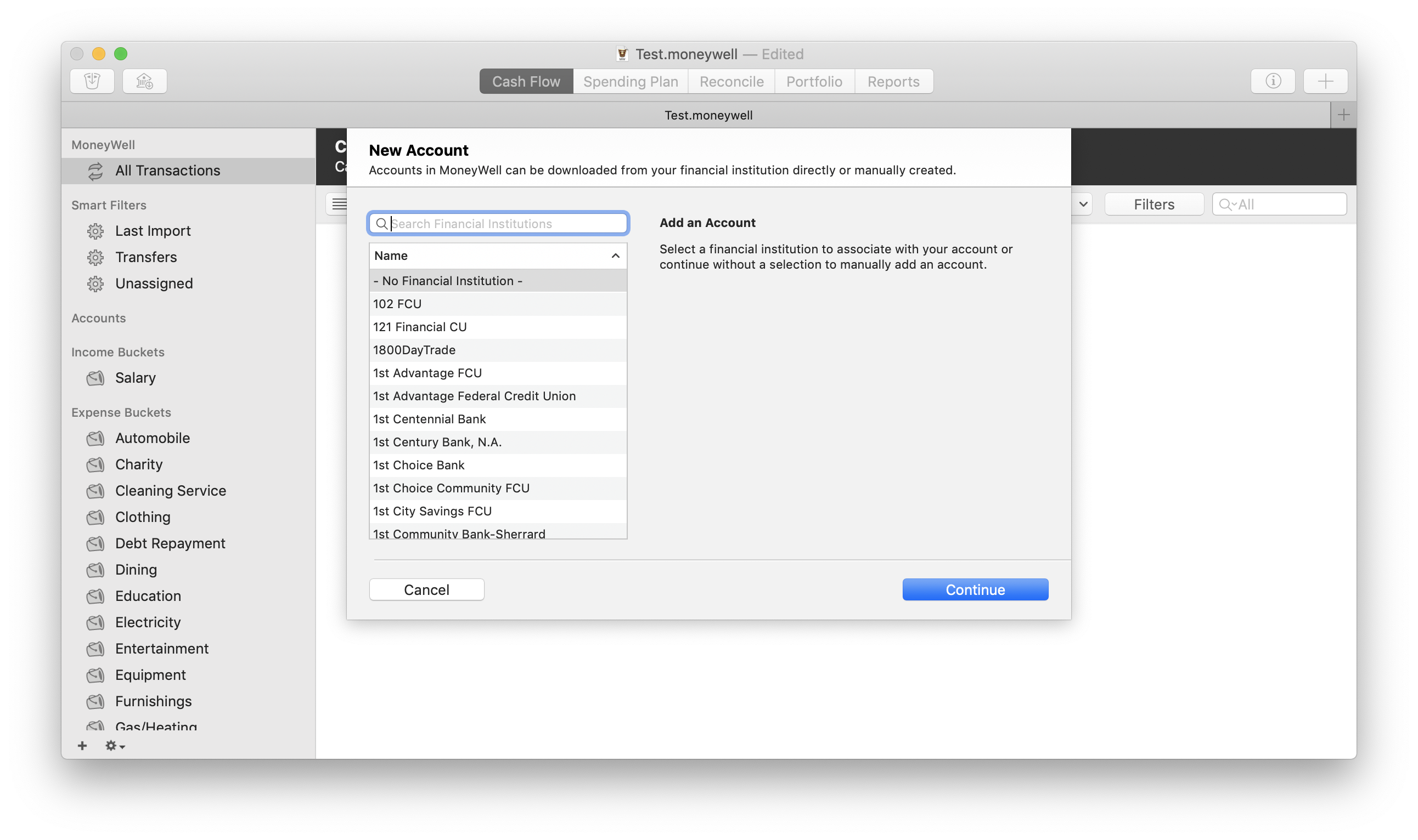 Getting Started with Moneywell for macOS | MoneyWell