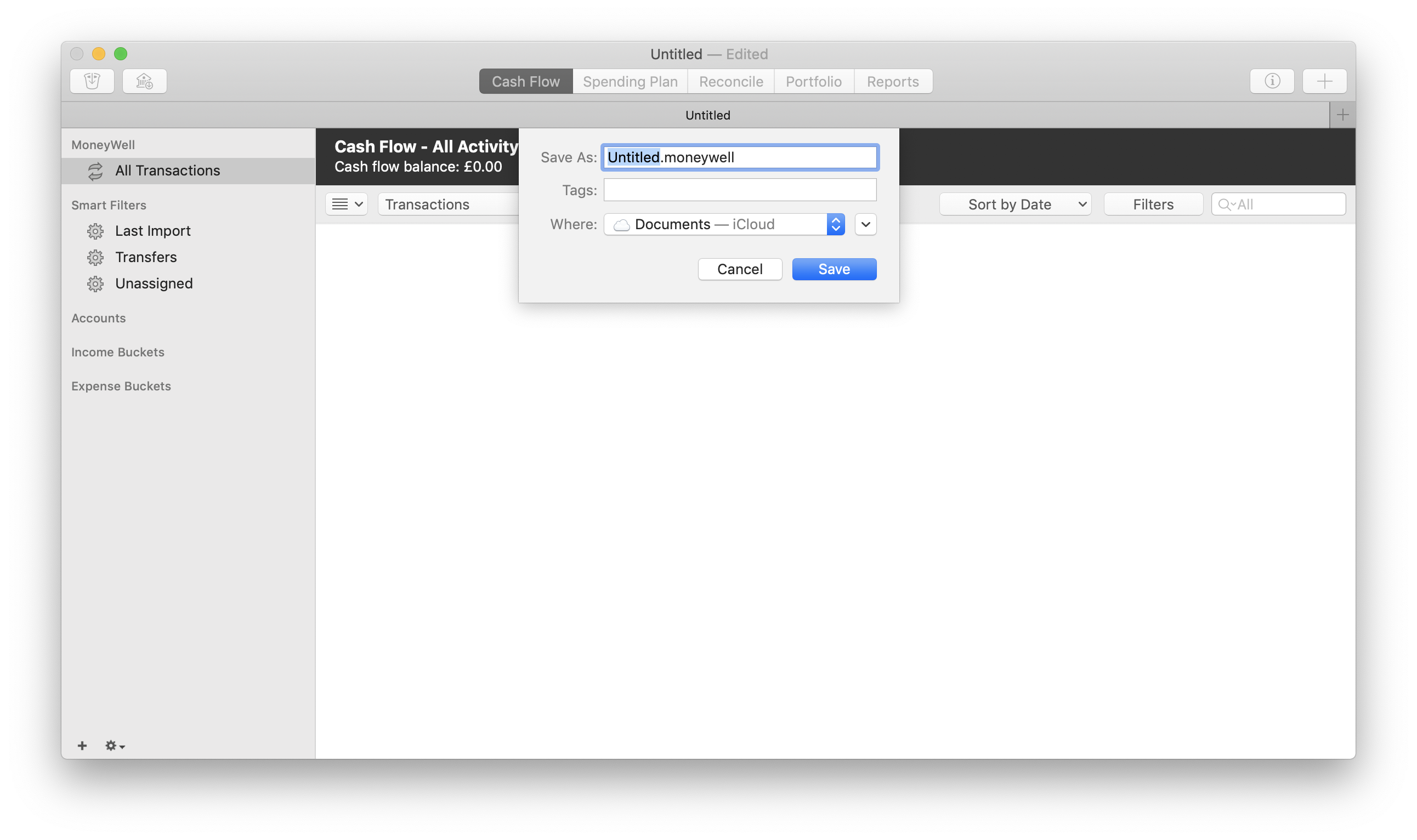 Getting Started with Moneywell for macOS   MoneyWell